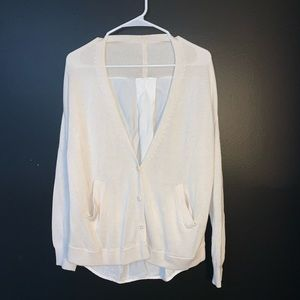 Lululemon cream and white cardigan size 8